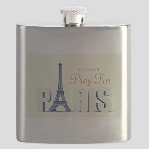 Pray For Paris Flask