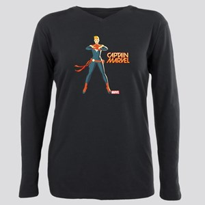Captain Marvel Standing Plus Size Long Sleeve Tee
