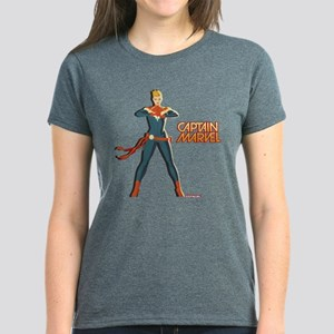 Captain Marvel Standing Women's Dark T-Shirt