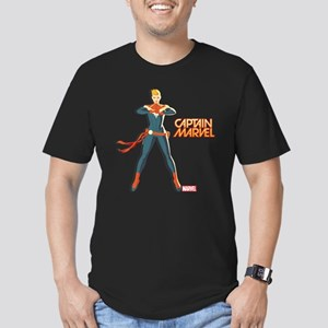 Captain Marvel Standin Men's Fitted T-Shirt (dark)