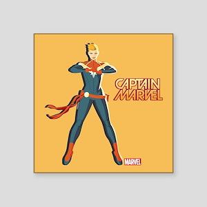"Captain Marvel Standing Square Sticker 3"" x 3"""