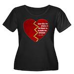 Love fills the cracks... Plus Size T-Shirt