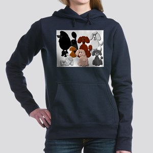TINY POODLE PACK COLLAGE Women's Hooded Sweatshirt