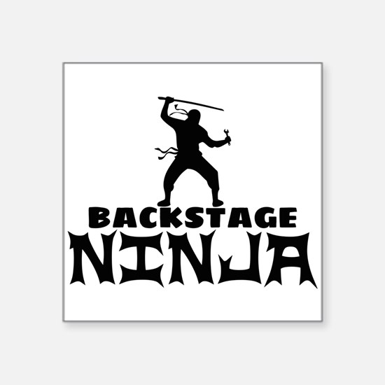 "Cute Stage manager Square Sticker 3"" x 3"""