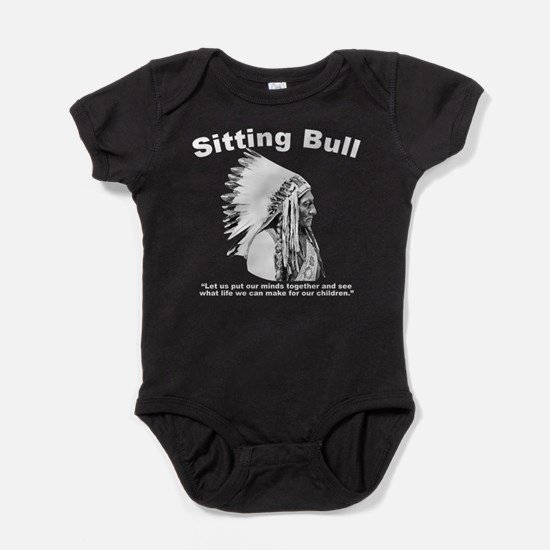 Sitting Bull: Peace Baby Bodysuit