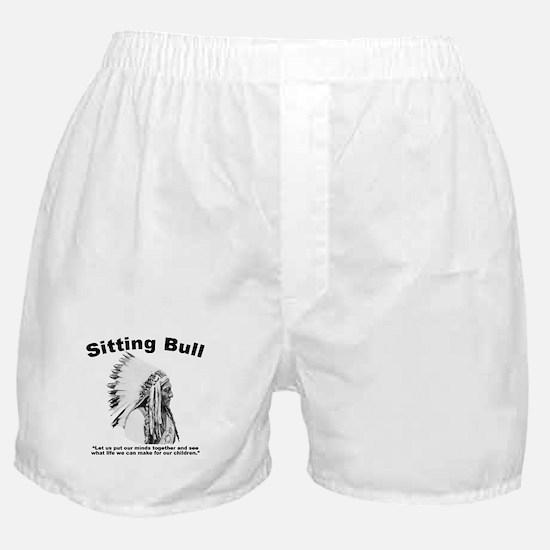 Sitting Bull: Peace Boxer Shorts