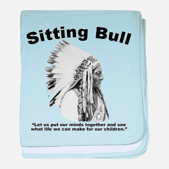 Sitting Bull: Peace baby blanket