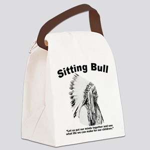 Sitting Bull: Peace Canvas Lunch Bag