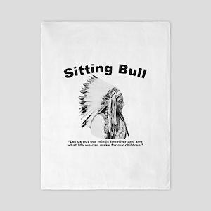 Sitting Bull: Peace Twin Duvet