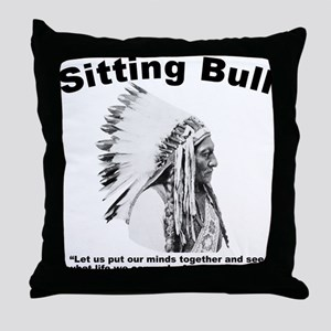 Sitting Bull: Peace Throw Pillow