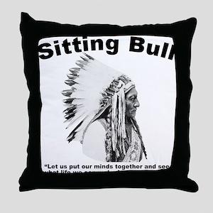Sitting Bull: Peace Throw Pillow