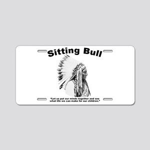 Sitting Bull: Peace Aluminum License Plate