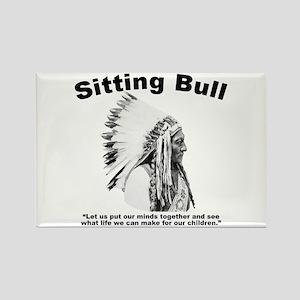 Sitting Bull: Peace Rectangle Magnet