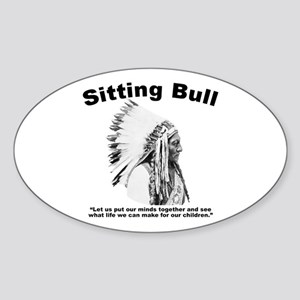 Sitting Bull: Peace Sticker (Oval)