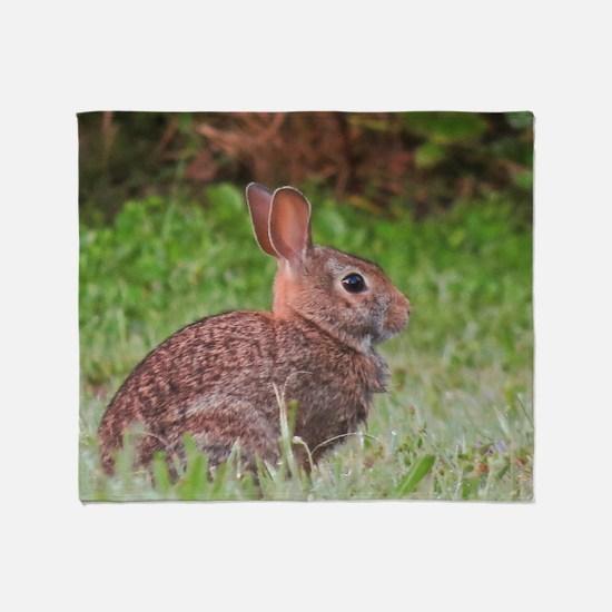 Sitting rabbit Throw Blanket