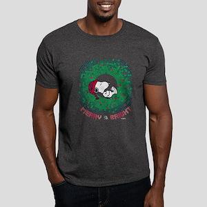 Peanuts Snoopy Merry and Bright Dark T-Shirt