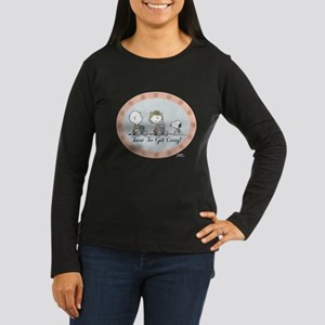Peanuts Cozy Women's Long Sleeve Dark T-Shirt