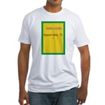 Rectangle Magnet Image 3 Fitted T-Shirt