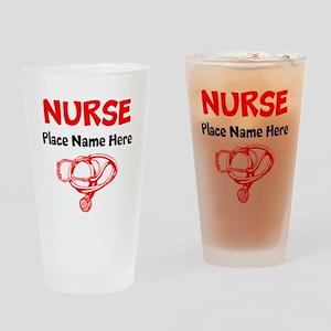 Nurse Drinking Glass