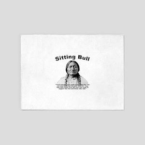 Sitting Bull: Oligarchy 5'x7'Area Rug