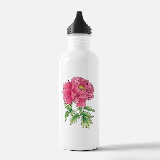 Funny Floral botanical Water Bottle