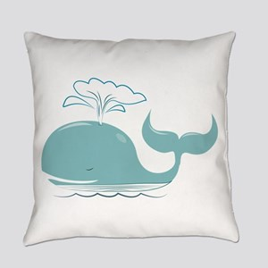 Spouting Whale Everyday Pillow