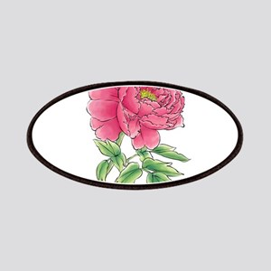Pink Peony Watercolor Sketch Patch