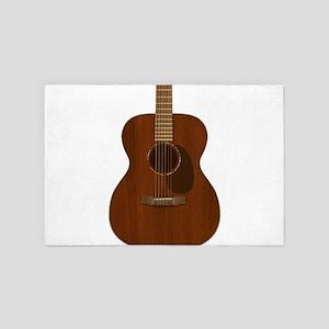 Acoustic Guitar Art 4' x 6' Rug