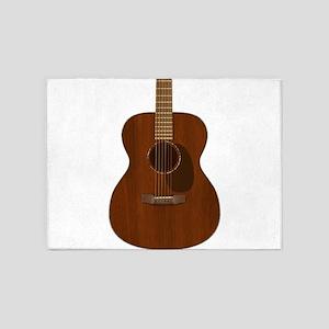 Acoustic Guitar Art 5'x7'Area Rug