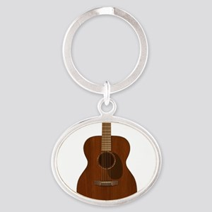 Acoustic Guitar Art Keychains