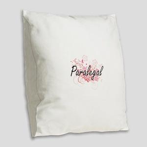 Paralegal Artistic Job Design Burlap Throw Pillow