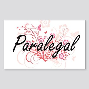 Paralegal Artistic Job Design with Flowers Sticker