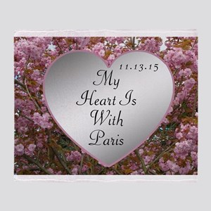 My Heart Is With Paris Throw Blanket