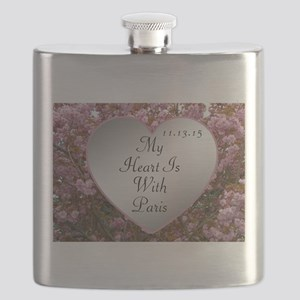 My Heart Is With Paris Flask