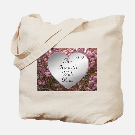 My Heart Is With Paris Tote Bag