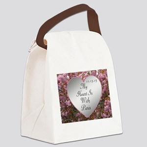 My Heart Is With Paris Canvas Lunch Bag