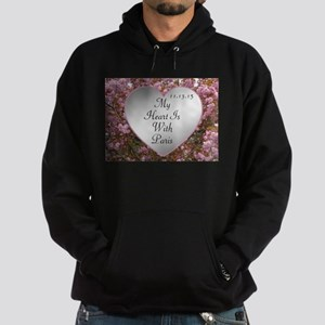 My Heart Is With Paris Hoodie (dark)