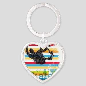 Skateboarder Ink Sketch Jump on Rainbow Keychains