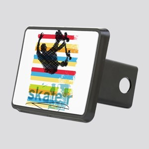 Skateboarder Ink Sketch Ju Rectangular Hitch Cover