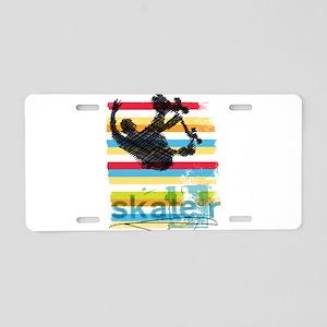 Skateboarder Ink Sketch Jum Aluminum License Plate
