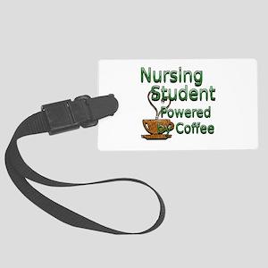 coffee nursing student Large Luggage Tag