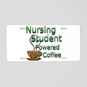 coffee nursing student Aluminum License Plate