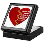 Love fills the cracks... Keepsake Box