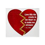 Love fills the cracks... Throw Blanket