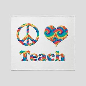 2-peace love teach copy Throw Blanket