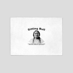 Sitting Bull: NoPeace 5'x7'Area Rug