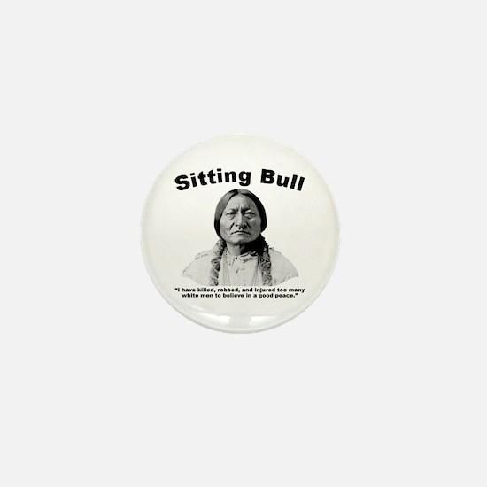 Sitting Bull: NoPeace Mini Button