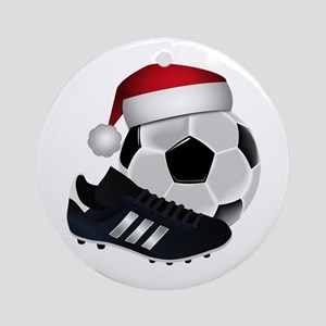 Christmas Soccer Round Ornament