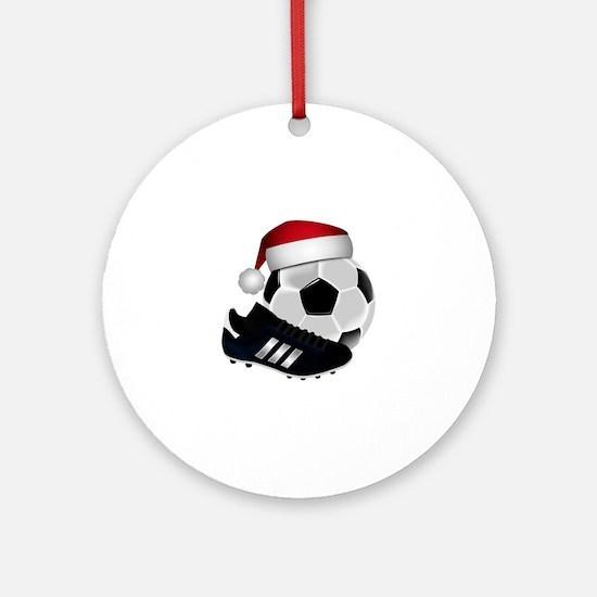 Christmas Soccer Round Ornament