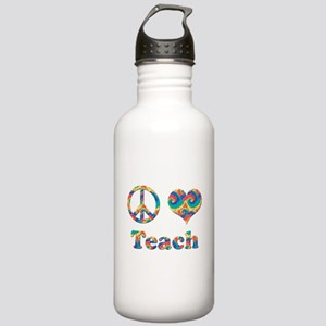 2-peace love teach cop Stainless Water Bottle 1.0L